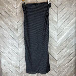 Nike Infinity Dri-Fit Golf Scarf Black Gray Stripe